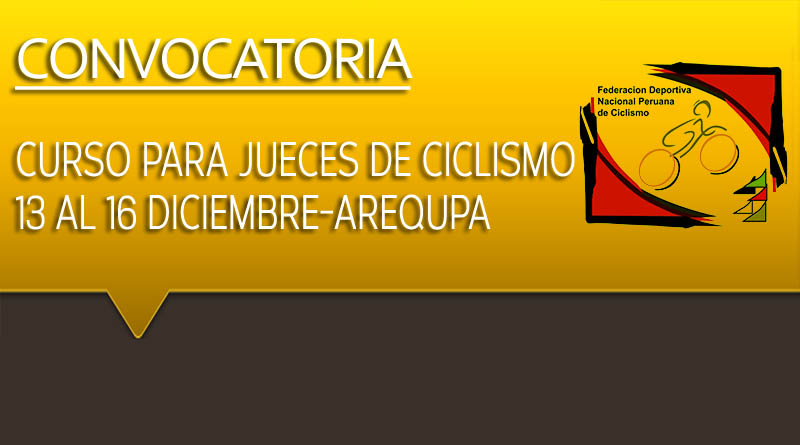 CONVOCATORIA: CURSO PARA JUECES DE CICLISMO