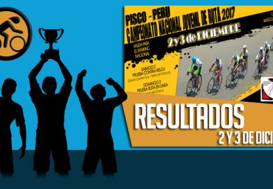 RESULTADOS: Campeonato Nacional Juvenil Ruta 2017 (2 y 3-12-2017)