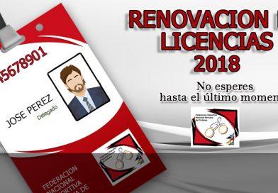 Renovación de Licencias 2018