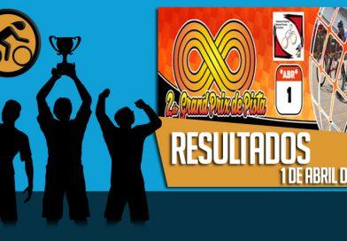 RESULTADOS: 2DO GRAND PRIX NACIONAL DE PISTA (1/4/2018)