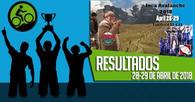 RESULTADOS: Inca Avalanche 2018 (28 y 29/04/2018)