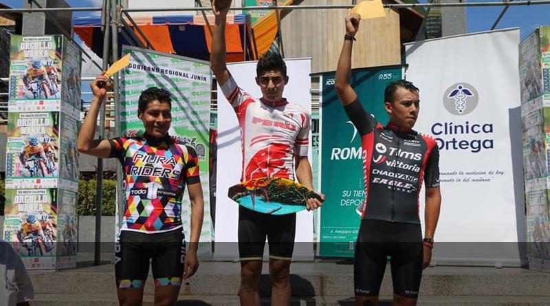 Alonso Gamero ganador de la 1ra etapa de Orgullo Wanka