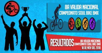 RESULTADOS: 8a Valida Nacional – Campeonato Soul Bike BMX (10-11-2018)
