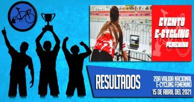 RESULTADOS: Segunda Valida Nacional E-Cycling Femenino (15-04-2021)