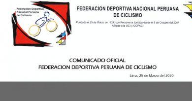 COMUNICADO: Se pospone el Campeonato Panamericano de Pista Elite 2020