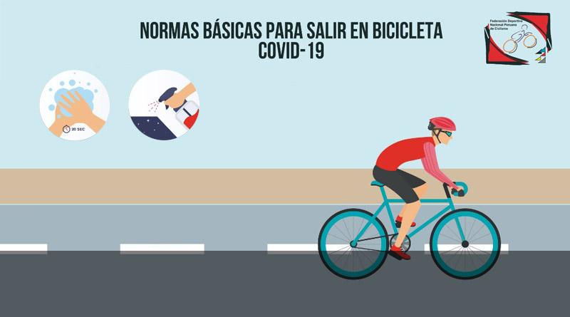 NORMAS BASICAS PARA SALIR EN BICICLETA COVID-19