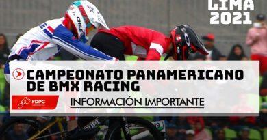 INFORMACION IMPORTANTE CAMPEONATO PANAMERICANO BMX