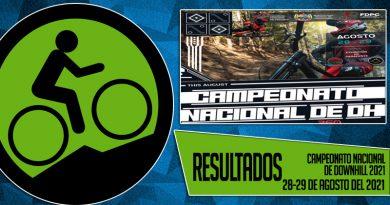 RESULTADOS: CAMPEONATO NACIONAL DE DOWNHILL 2021 (28 y 29/08/2021)